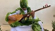 Sanatçı Aydın Aydın, Karpuzdan Maske Yapıp 'Evde kal' Dedi