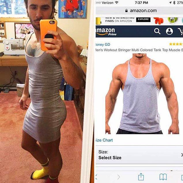 17. Atlet almak isterken elbise almış. 😂