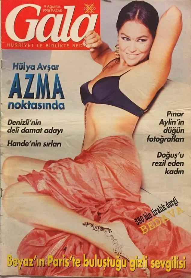 5. Hülya Avşar kim bilir neler anlattı ama gazeteciler içinden şu lafı alıp kapak yapmışlar büyük ihtimalle...