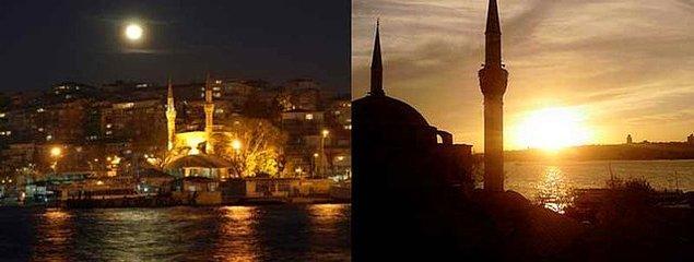 Edirnekapı'ndaki Mihrimah Sultan Camii, diğer Osmanlı imparatorluk camilerinden farklı olarak sadece bir minareye sahiptir.