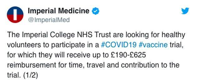 """Imperial College London: """"Aşı denemeleri için gönüllüler aranıyor"""""""
