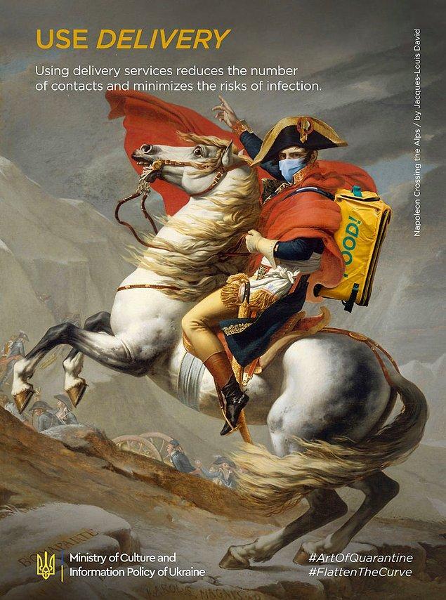 1. Jacques-Louis David, ''Napoleon Crossing The Alps''
