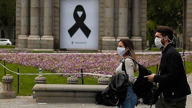 İspanya'da son 24 saatte 367 kişi hayatını kaybetti