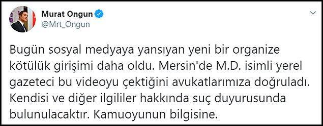 Kameramanın Mersinli yerel bir gazeteci olduğunu doğruladıklarını söyleyen İBB Sözcüsü Murat Ongun, 'Suç duyurusunda bulunacağız' dedi.