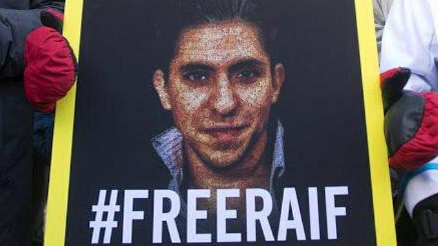 Raif Badawi'nin cezası tepki çekmişti...