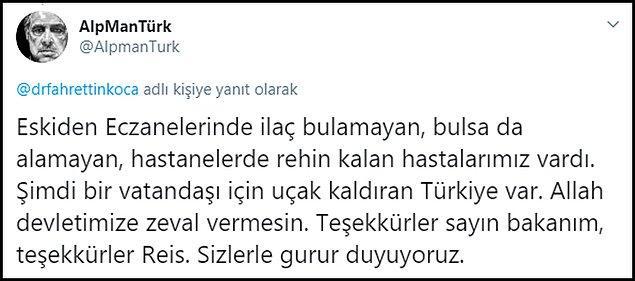 Sağlık Bakanı ve Cumhurbaşkanı Erdoğan için övgü dolu binlerce paylaşım yapıldı
