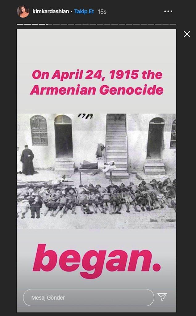 """""""1915'te 24 Nisan'da Ermeni Soykırımı başladı."""""""