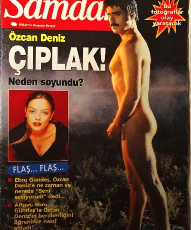 6. Bir gözünüzü Özcan Deniz'in poposundan ayırabilirseniz, alt köşede Ebru Gündeş ve Özcan Deniz aşkından bahseden haber başlığını görebilirsiniz...