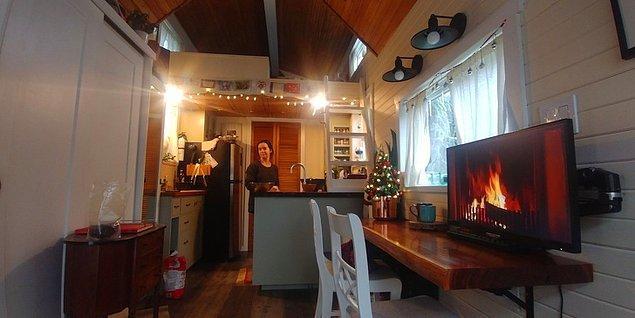 Evlerinin içi ise böyle görünüyor: