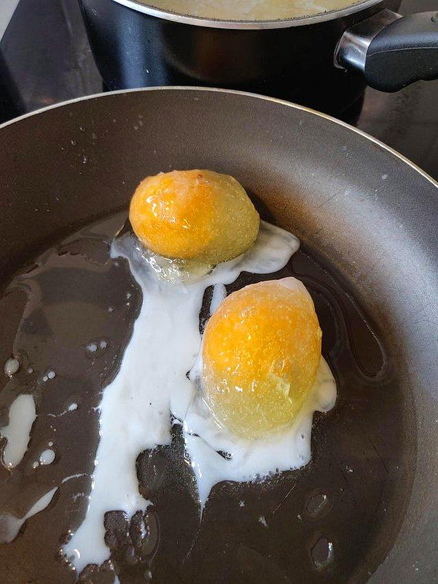 """6. """"Dolabım, yumurtaları soğutmaktan vazgeçip dondurmuş."""""""