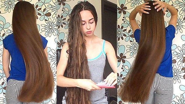 12. Popo hizasında uzun saç.