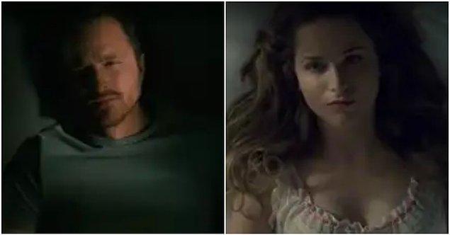 2. Caleb'le ilk tanıştığımızda karakterin uyandığı ve sonrasında güne devam ettiği sahneleri görüyoruz. Bu rutin bize 1. sezondaki Dolores'i hatırlatıyor.