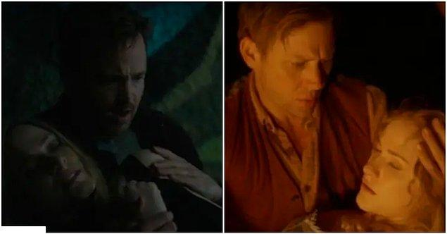 3. Daha sonra Caleb Dolores'le karşılaşır ve Dolores 1. sezonda William'la yaşadığı sahne gibi Caleb'in kollarında bulur kendini.