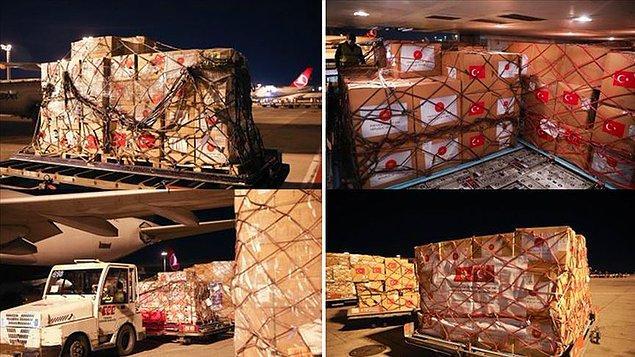 Kovid-19'la mücadelede kullanılacak tıbbi yardım malzemeleri Tunus'a gönderildi