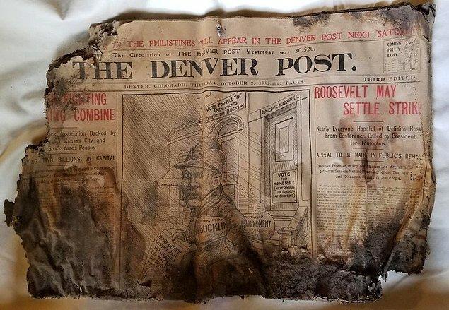 """8. """"Bugün yeni evimizde eski bir gazete buldum. 2 Ekim 1902 tarihinden kalma bir gazete!"""""""