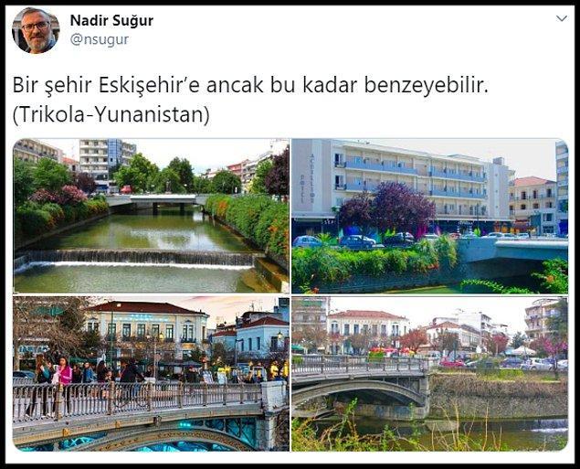 Eskişehir'e benzeyen Yunan şehri ile ilgili sosyal medyada yapılan yorumlar: 👇