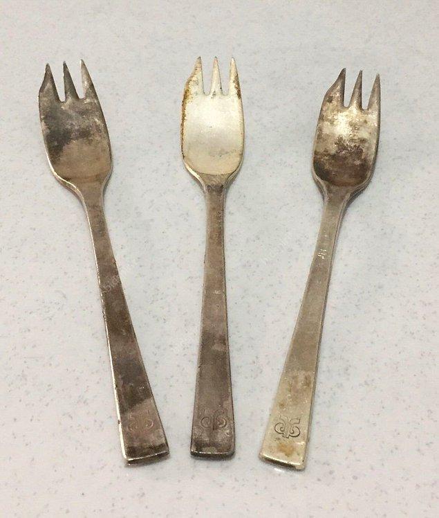1950'lerde çatalın üç dişli hali yaygınlaşıyor. Çatal için alternatif malzemeler üretiliyor.