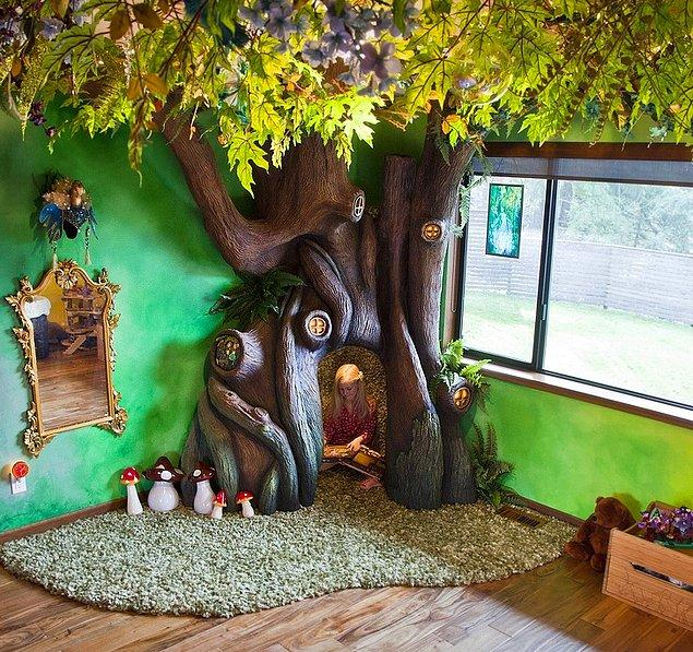 """10. """"Kızımın yatak odasına bir ağaç yaptım."""""""