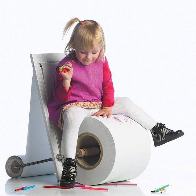 6. Çocukların favorisi olabilir. Otur, çiz! Kağıtlar bitince yenisini takarız...