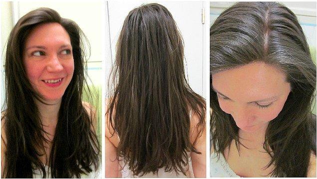 Siz de saçlarınızı yıkamamaya alıştırmak isterseniz öncelikle sülfatsız, silikonsuzbir şampuan edinin.