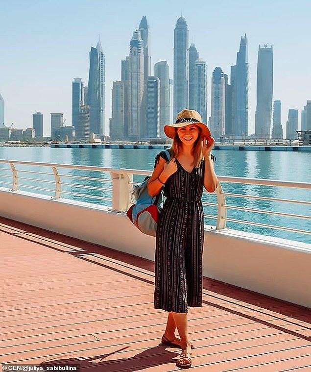Koronavirüsten önce gittiği Dubai'de bir uçurumun zirvesinde poz verirken düşen kadın öldü.