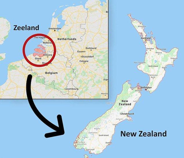 """9. """"'Yeni' Zelanda'nın adı Hollanda'nın eyaleti olan Zeeland'dan gelmektedir."""""""