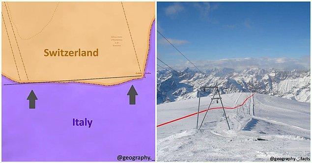11. İsviçre- İtalya sınırı: