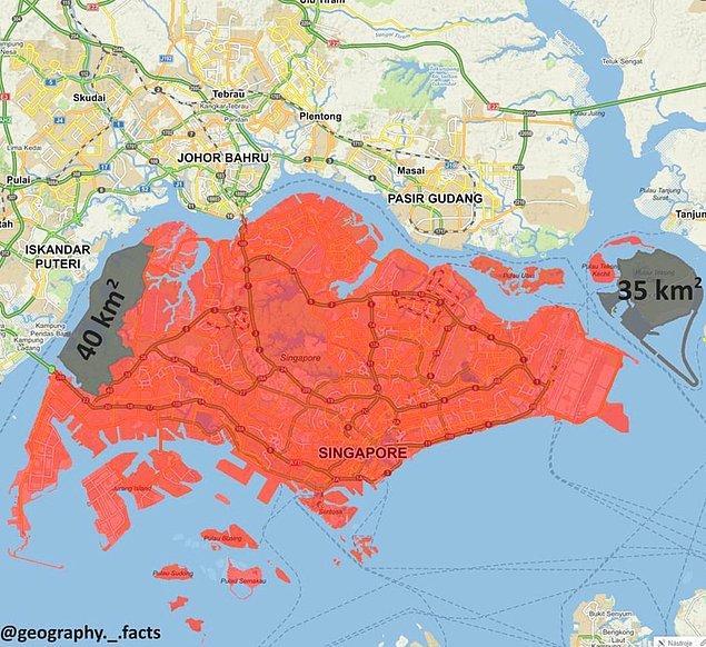 16. Ve son olarak, Singapur'un askeri bölgeleri: