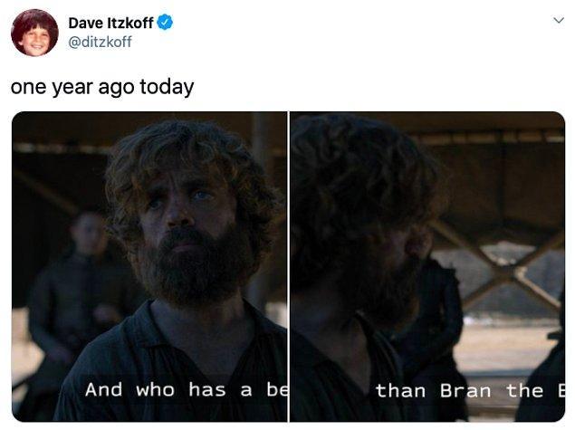 """8. """"Bir yıl önce bugün."""""""