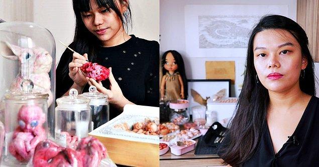 Singapur'da doğan ve Hollanda'da yaşayan 29 yaşındaki sanatçı, severek yaptığı ancak kendisinin bile ürpertici bulduğu sanat eserleri sayesinde dünyanın dört bir yanında tanınıyor.