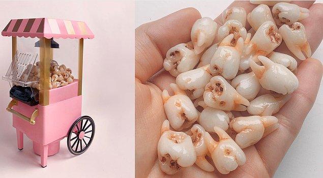 9. Diş ve popcorn?