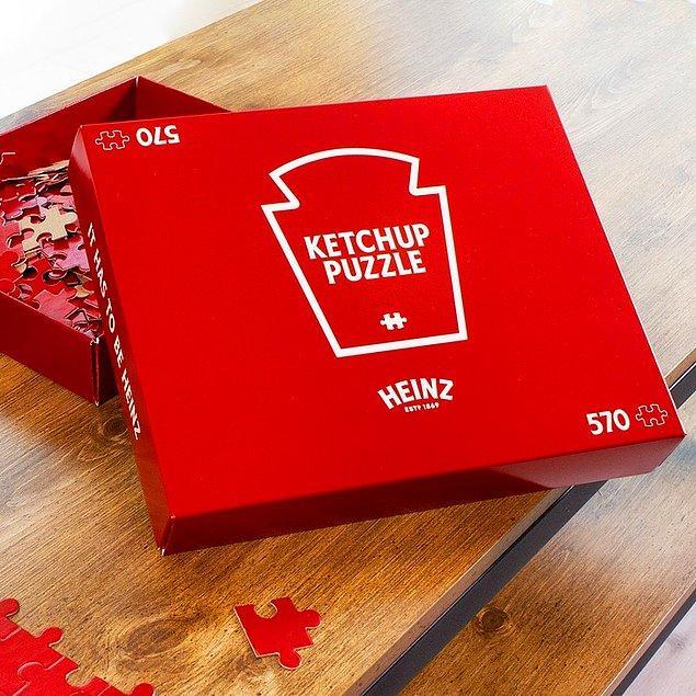 1. Heinz markasından tamamen kırmızı bir puzzle: