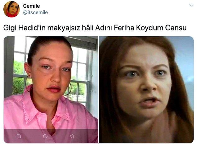 Gigi Hadid'in videosunu görenler ise yorum yapmadan geçmedi: