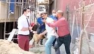 Yol Ortasına Bina Diken Müteahhit Gazetecilere Saldırdı: 'Senin Gibi 100 Tane Leşim Var'