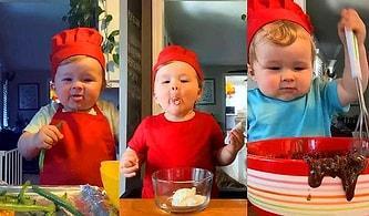 Yaptığı Yemeklerle Hem İştahınızı Açacak Hem de Yüzünüzde Kocaman Bir Tebessüm Bırakacak Bebek Şef Kobe ile Tanışın