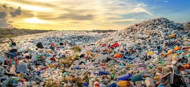 Plastik, ürettiğimiz toplam atığın yaklaşık %10'unu oluşturuyor.