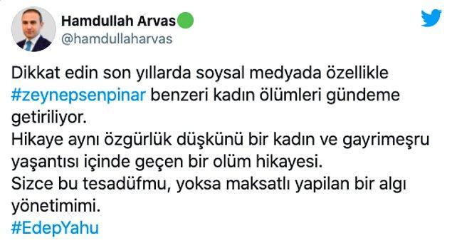 Arvas'ın tepki çeken sosyal medya paylaşımları şöyle 👇