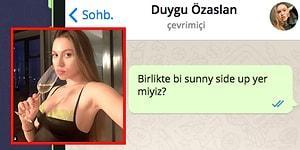 WhatsApp'ta Duygu Özaslan'ı Tavlayabilecek misin?