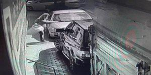 Lüks Cipini Evin Önünde Yıkayan Adama Tepkisini Çöp Kovasıyla Gösteren Kadın