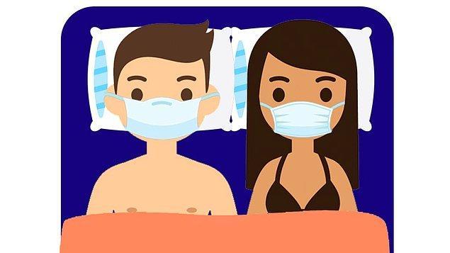 Seks işçileri aynı zamanda tüm gün ağızlarını ve burunlarını kapatan bir maske kullanacaklar.