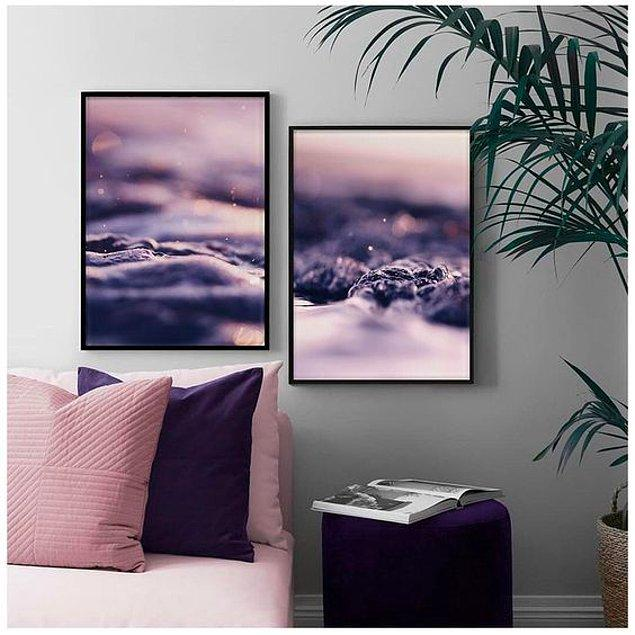 6. Ev dekorasyonunda mor tonları kullanmak da enerjinizi yükseltecektir.