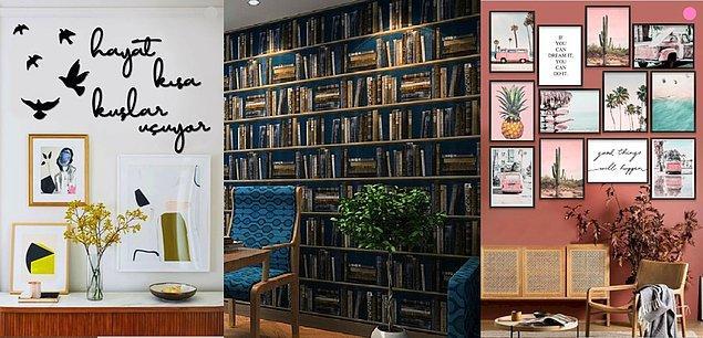 16. Çalışma odanızın tarzını yansıtacak en önemli yer ise: Duvarlarınız!
