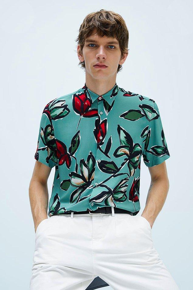 4. Zara'nın bu desenli gömleği şu anda indirimde!