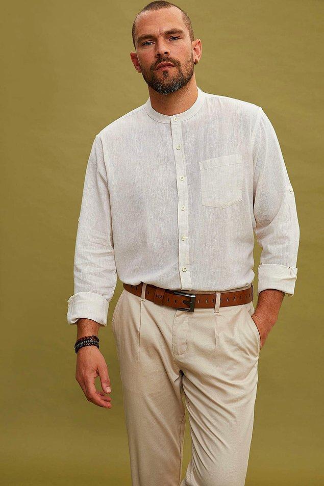 1. Trendy modeli ve rahat kesimi, bu gömleği tercih etmeniz için yeterli değilse, alın size bir sebep daha: Fiyatı da gayet uygun!