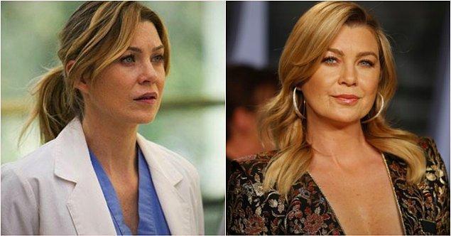 1. 'Meredith Grey' karakteriyle Ellen Pompeo: