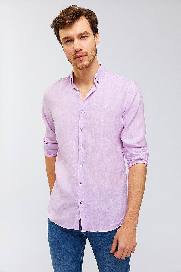12. Avva marka bu keten gömleklerde hem indirim var hem de '1 alana 1 bedava' kampanyası var.