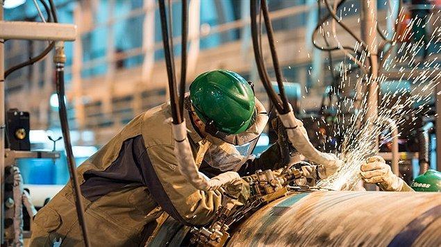 Sanayi sektörü 2020 yılı birinci çeyreğinde %6,2 arttı