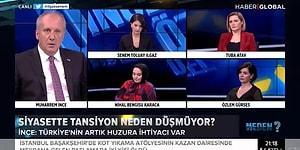 Konuşması Yarıda Kesilen Muharrem İnce '35 Kanalda Erdoğan Var' Diyerek Canlı Yayını Terk Etti