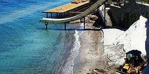 Bodrum'da Sahile 'Beyaz Kum' Diye Mermer Tozu Dökmeye Çalışan Otele 345 Bin TL Ceza