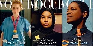 Ezberleri Bozmak İsteyen 'Vogue' Dergisi Kapak Fotoğrafına Ünlü Modeller Yerine Pandemi Boyunca Görev Yapan Emekçi Kadınları Koydu!